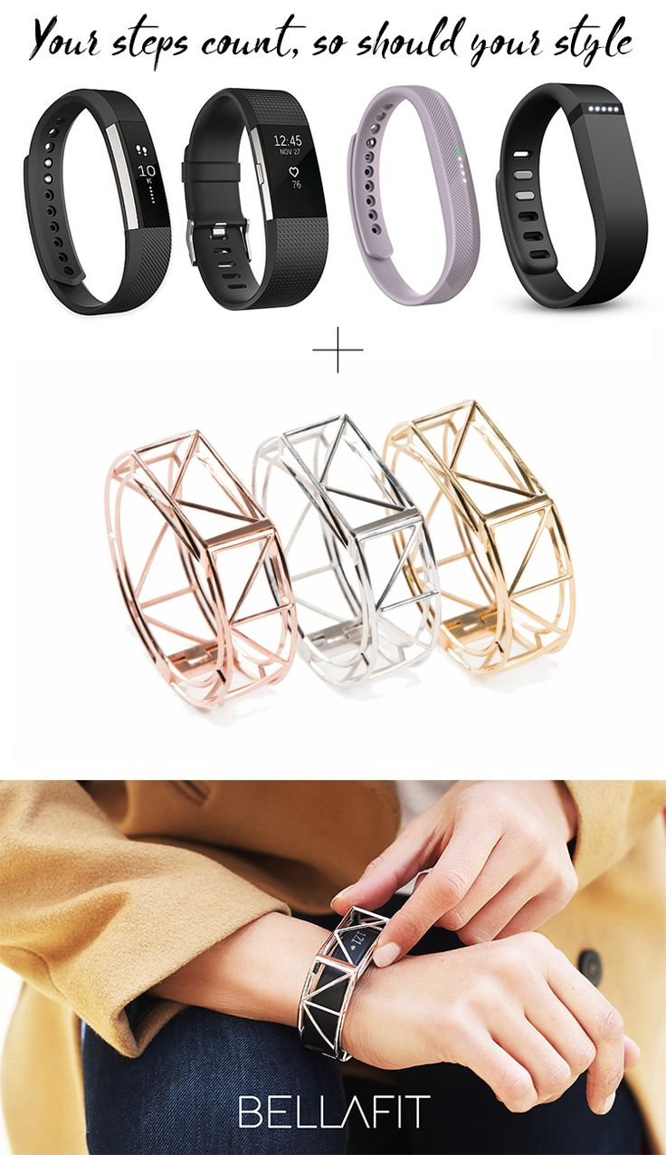 A Kickstarter campaign. Bellafit is statement jewelry for fitness tracker like Fitbit and Garmin. Put it on with a flick of one hand. Check out for fitness tracker bracelet jewelry available in Gold, Rose Gold and Silver.