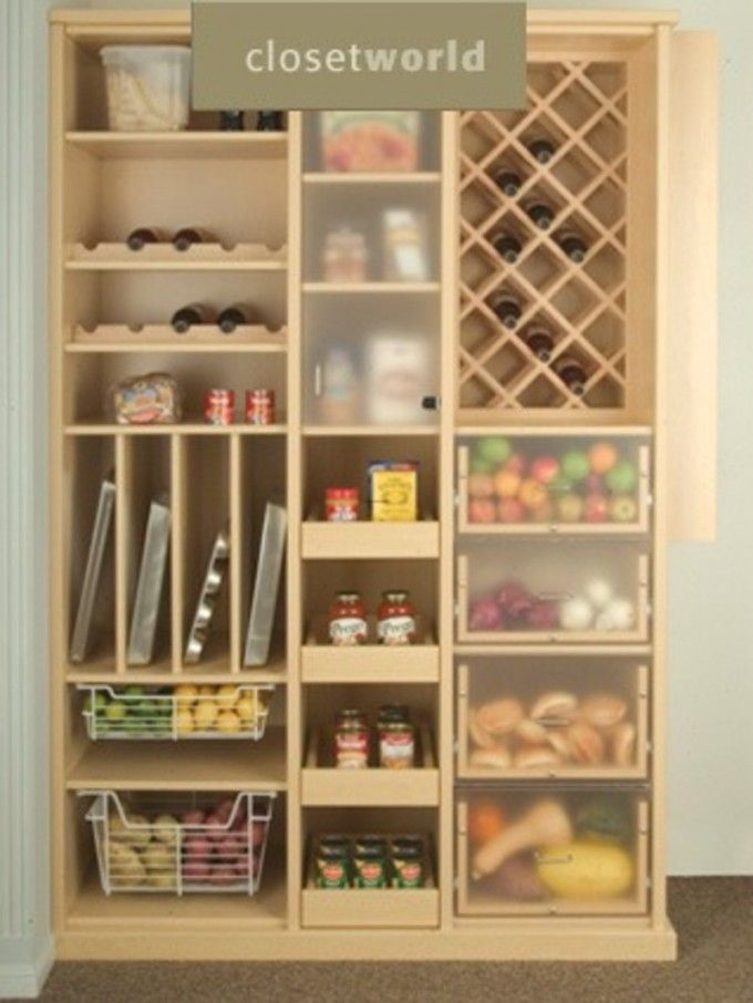 Clever Kitchen Pantry Ideas To Improve Your Kitchen : Free Standing Kitchen  Pantry Units With Wooden Part 52