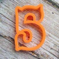 """Cookie cutter """"Number 5"""" 10 cm"""
