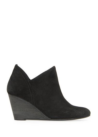 mango, Wedge suede ankle boots, $59.99