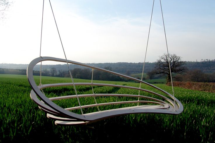 CircaDouble, a two person hanging chair by rawstudio, indoor and outdoor