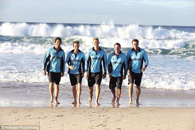 Living the dream! Just another day at the office for the crew, L-R, Harries, Reidy, Maxi, ...