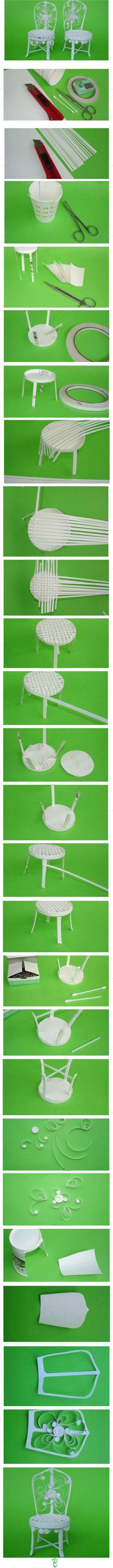 OMG!! Increible... para hacer de un par de vasos de carton, un poco de papel blanco e hisopos! genial...