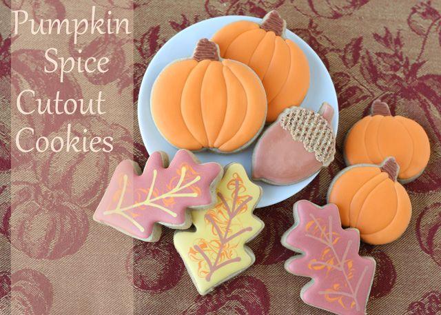 Pumpkin Spice Cookie Recipe - a twist on the basic sugar roll out, adding nutmeg, ginger, cinnamon & allspice
