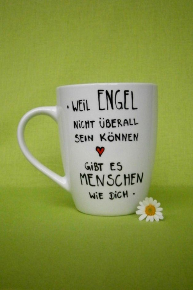Becher & Tassen - Geschenk Tasse für ENGEL ♥ Dein Geschenk Geschenk - ein Designerstück von hochdietassen bei DaWanda