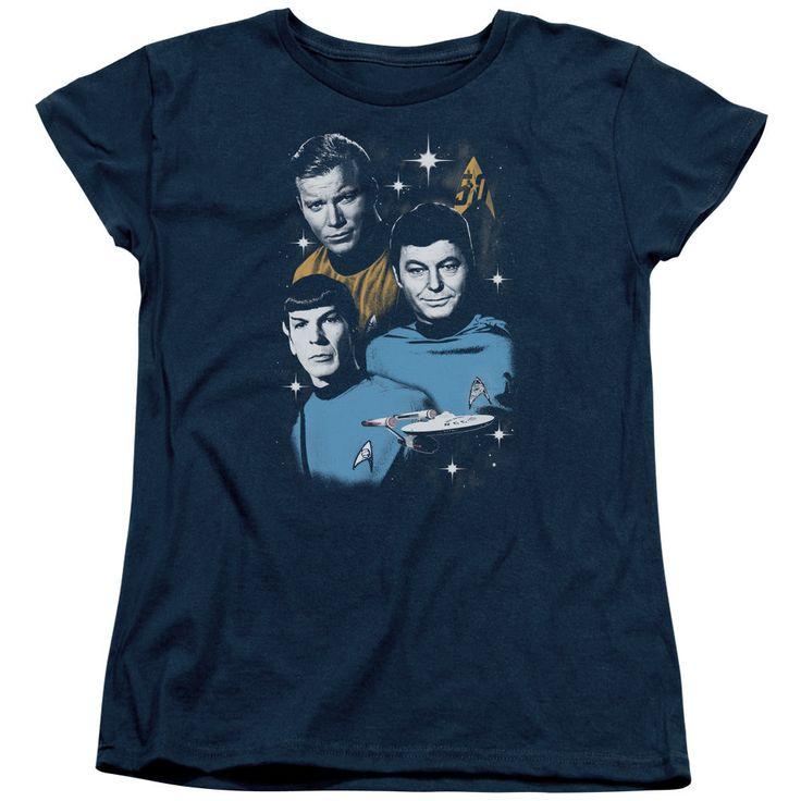 Star Trek All Star Crew Navy Womens T-Shirt