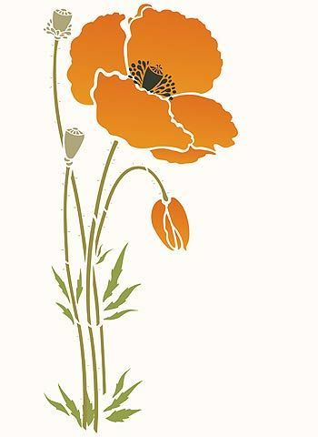 I need to paint enormous poppies on a canvas. Problem is, I can't draw/paint things like this. Thus, this big stencil may be able to help.: