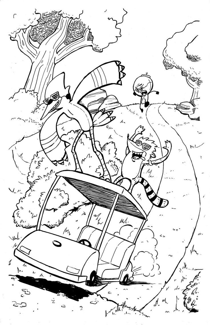 Mini regular show coloring pages ~ 10 best Fun coloring pages images on Pinterest   Coloring ...