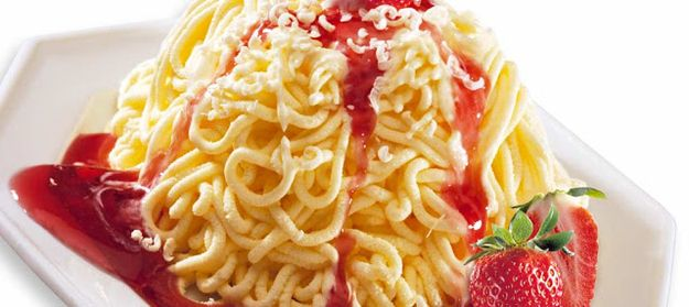 This is Spaghetti-Eis. | Spaghetti Ice Cream Exists, Looks Like Heaven