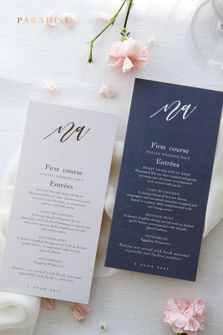 Best 25+ Printed wedding menus ideas on Pinterest | Rustic wedding ...