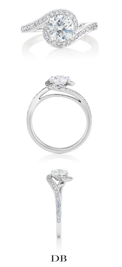 Caress Diamond Engagement Ring | De Beers