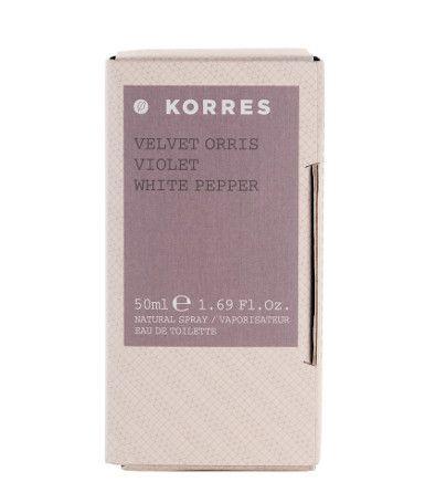 VELVET ORRIS/VIOLEΤ/WHITE PEPPER For Her #korres_fragrance