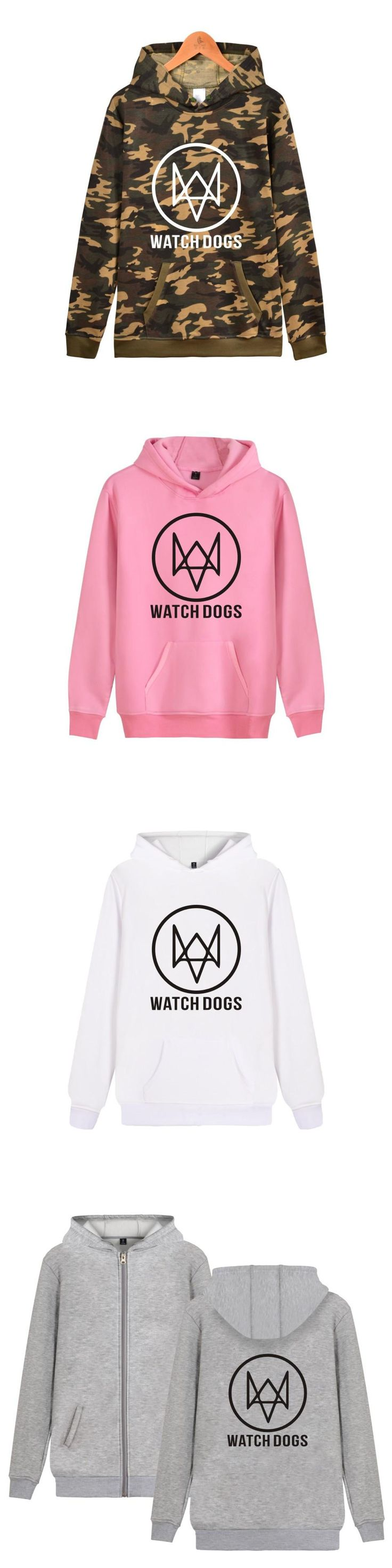ALIZAZA Watch Dogs 2 Funny Games Hoodies Men Women Cotton Fashion Casual Clothing Print Watch Dogs Hooded Sweatshirts