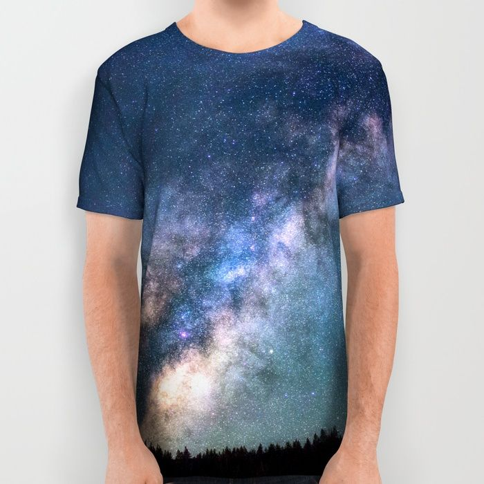 Milky Way All Over Print Shirt by Gallery One | Society6
