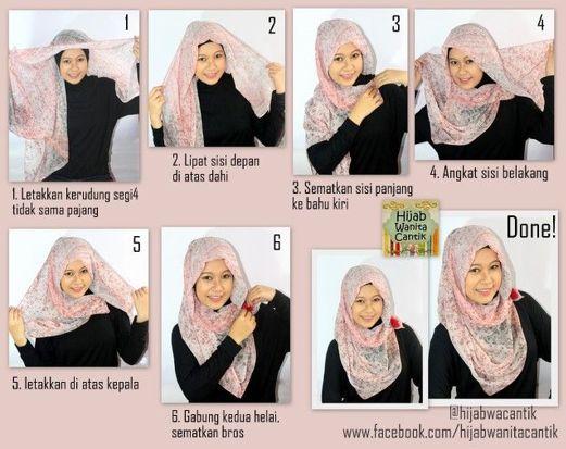 kreasi jilbab segi empat - Penelusuran Google