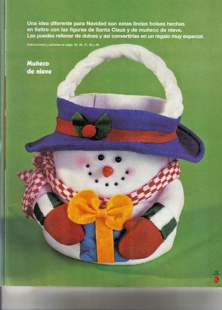 78eef08ae Revistas de fieltro para descargar gratis Dulceros Navideños De Fieltro,  Coronas De Navidad, Dulceros