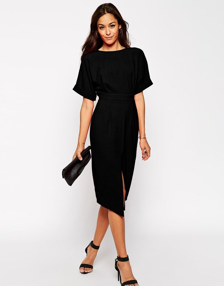 Asos black dress size 10