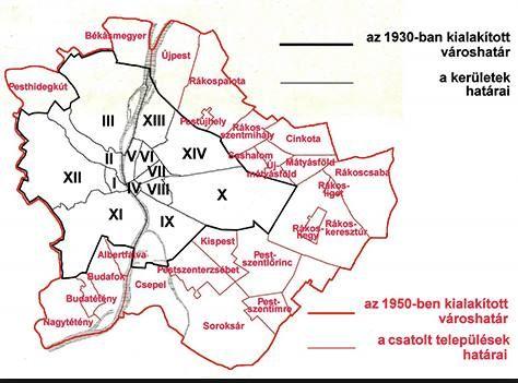1950. Nagy-Budapestnek nevezik Budapestet 1950. január 1-jén kialakult területével. A hivatalos neve Budapest maradt