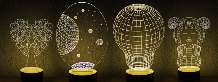 Just US$32.15, buy Stylish Transperant 3D LED Bulbing LED Lamp 3D Wireframe Magic Night  Bed Light online shopping at GearBest.com Mobile.