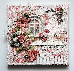 Ingrid's place: friends canvas