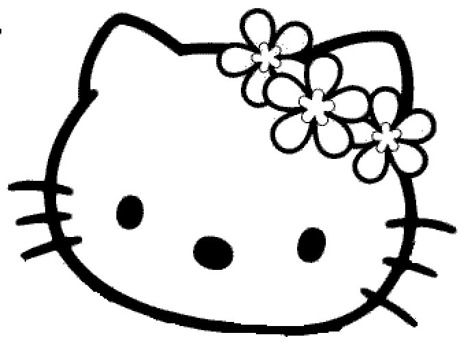 Coloriage Fleur Hello Kitty.Masque Hello Kitty Fleur Decoupage A Imprimer Anniversaire Kids