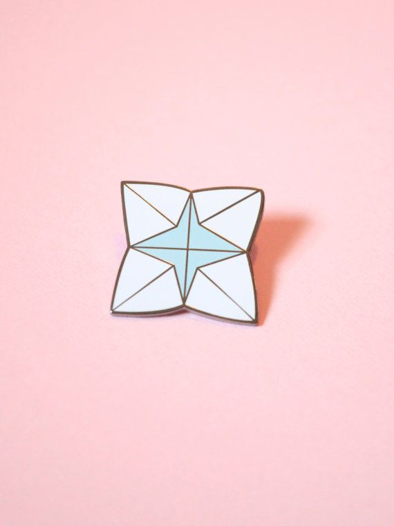 Large Paper Fortune Teller Hard Enamel Pin, Lapel Pin, Paper Fortune Teller…