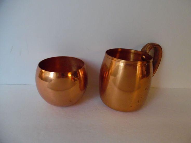 West Bend Aluminum Company Solid Copper Mug & Copper Craft Mug