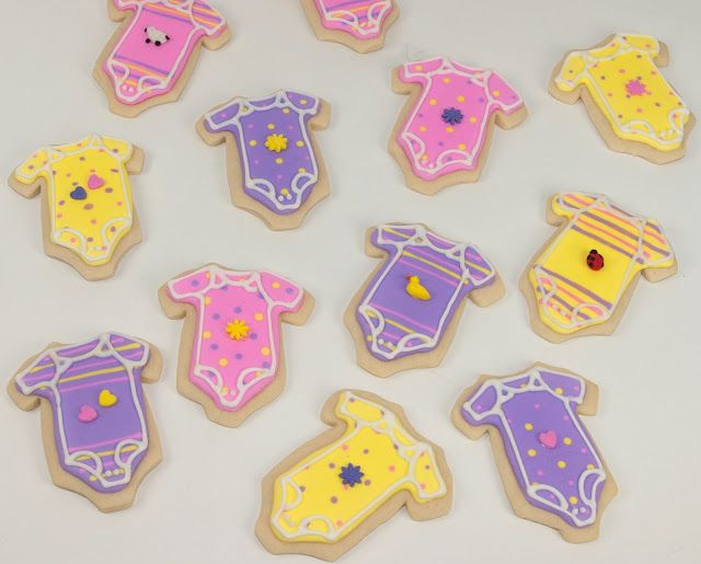 Onesie baby shower cookies :)