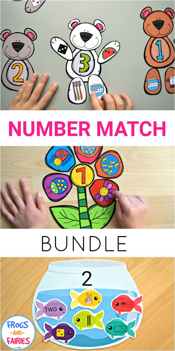 Are you looking for cute and colorful printable activities that'll help your little learners build a strong number sense?  Make learning fun and engaging with this Number Match Bundle!