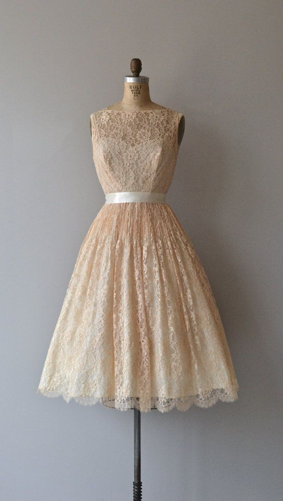 Classically Trained dress vintage 1950s dress lace by DearGolden