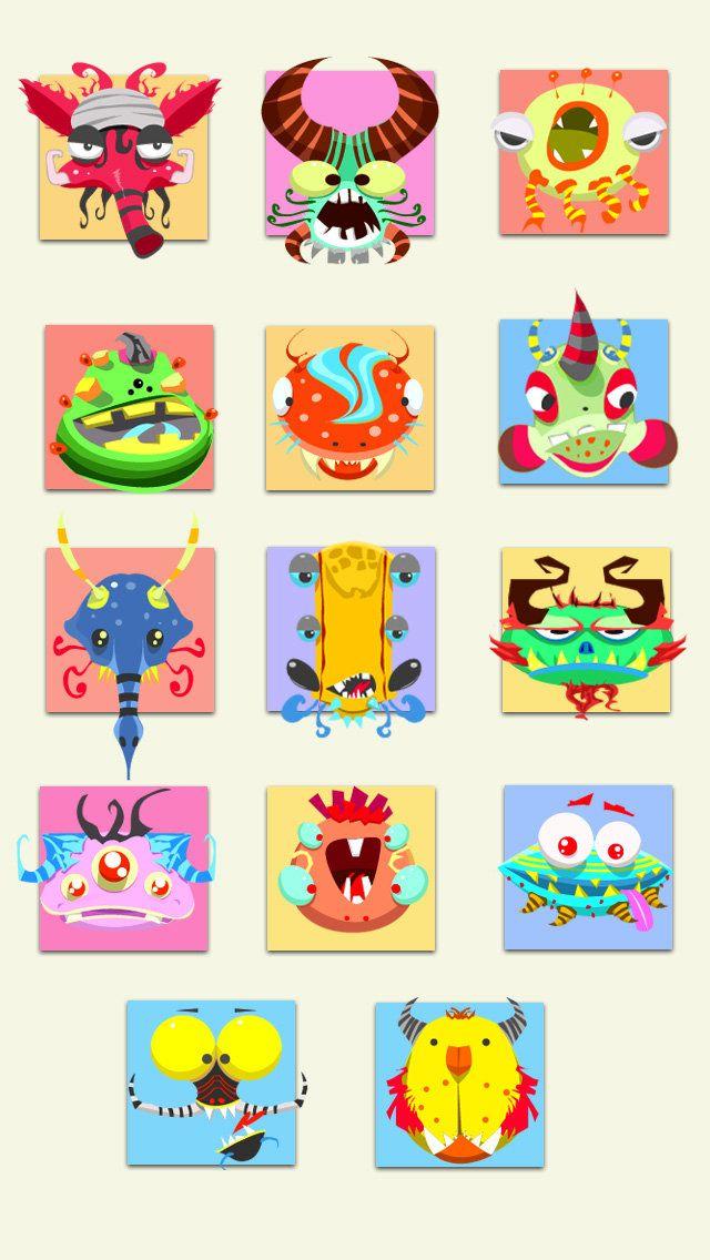 Cute monsters, Neil gurung on ArtStation at https://www.artstation.com/artwork/cute-monsters