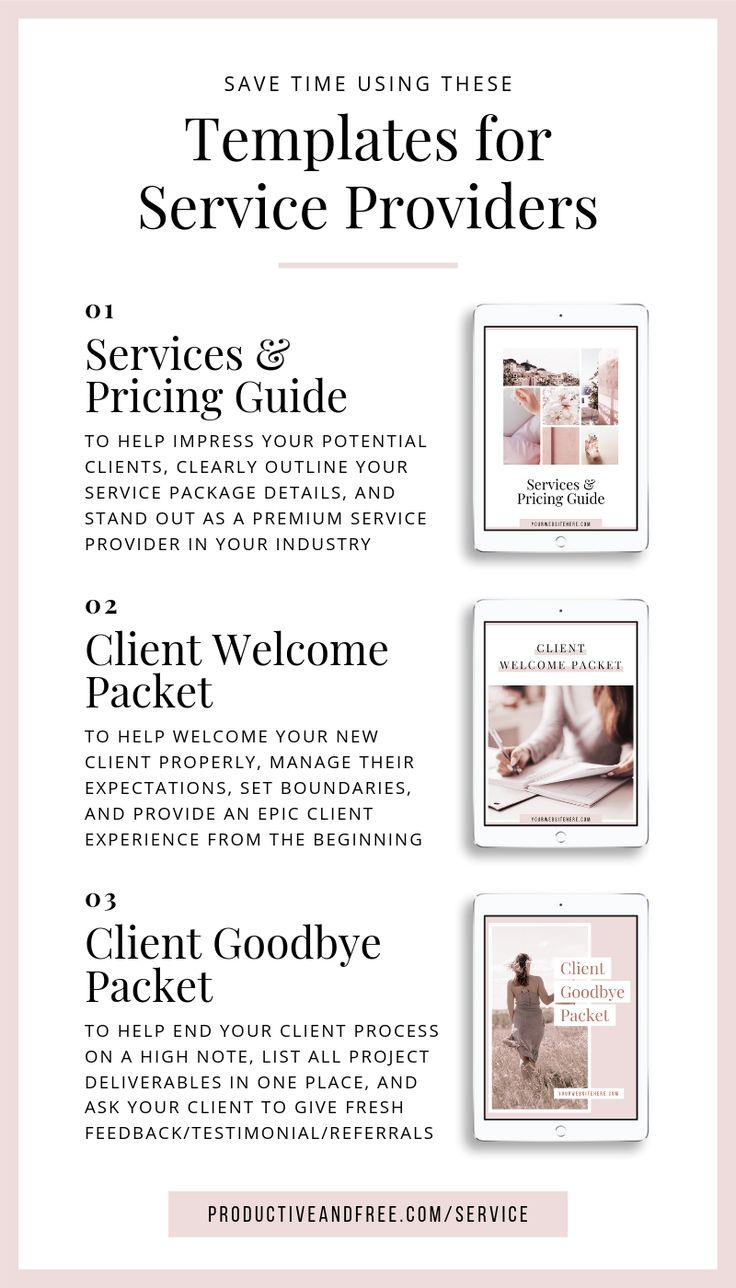 Canva Templates for Service Providers Service Based
