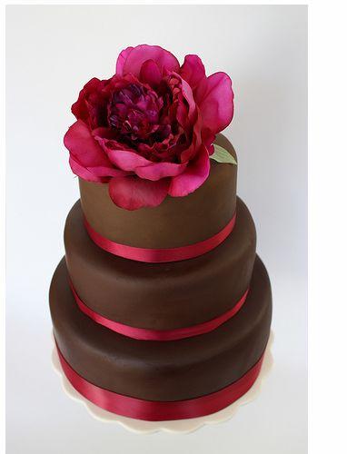 chocolate peony cake