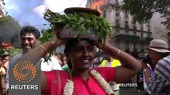 Hindu devotees color streets of Paris in celebration of
