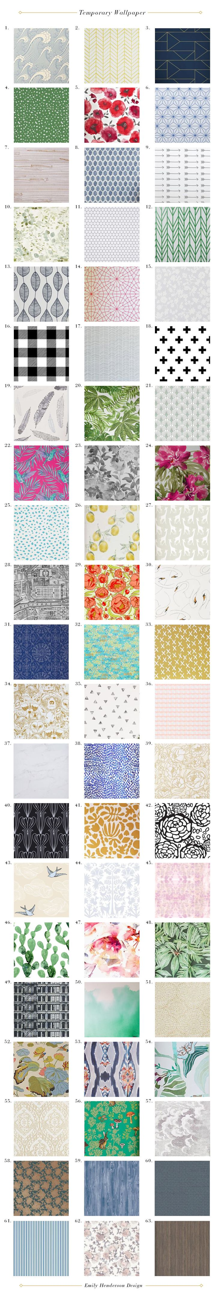 Temporary Wallpaper_Roundup_Self Stick_Self Adhesive_mural_wall covering_Emily Henderson
