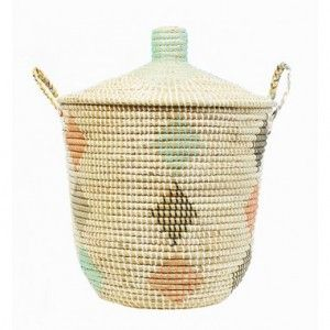 Our Ana Diamond Basket, the perfect laundry basket or laundry storage basket. Available to buy online at everythingbegins.com with worldwide shipping