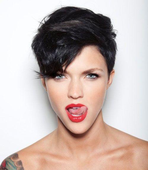undercut short dark hair women - Google Search