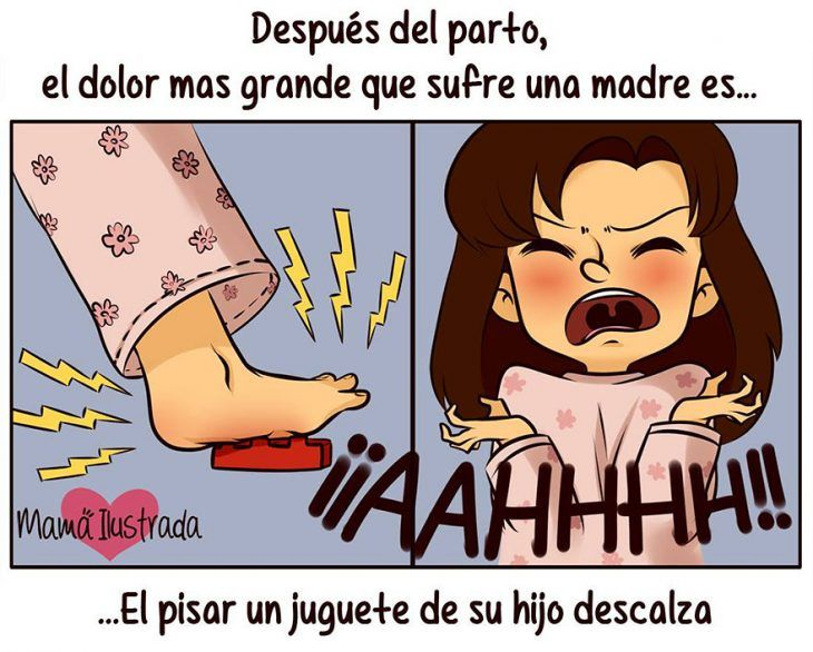 Ilustración dolor después del parto