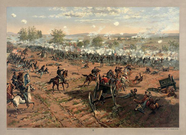 * Batalha de Gettysburg * Maio/1863. * Guerra de Secessão *