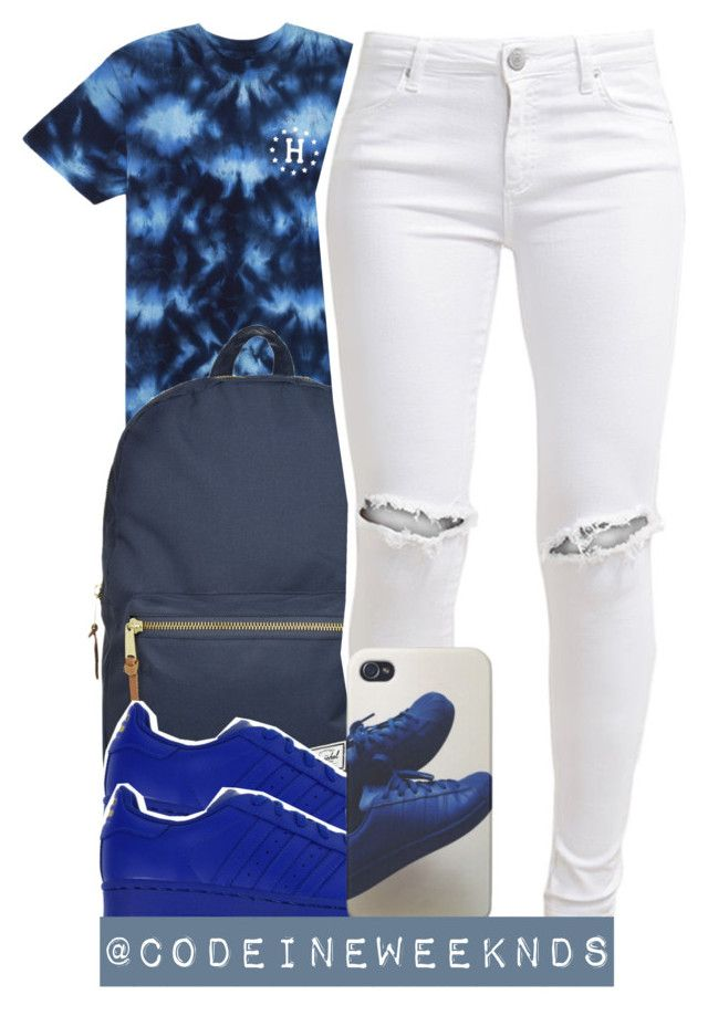 """""""10/17/15"""" by codeineweeknds ❤ liked on Polyvore featuring Herschel Supply Co., FiveUnits, women's clothing, women's fashion, women, female, woman, misses and juniors"""