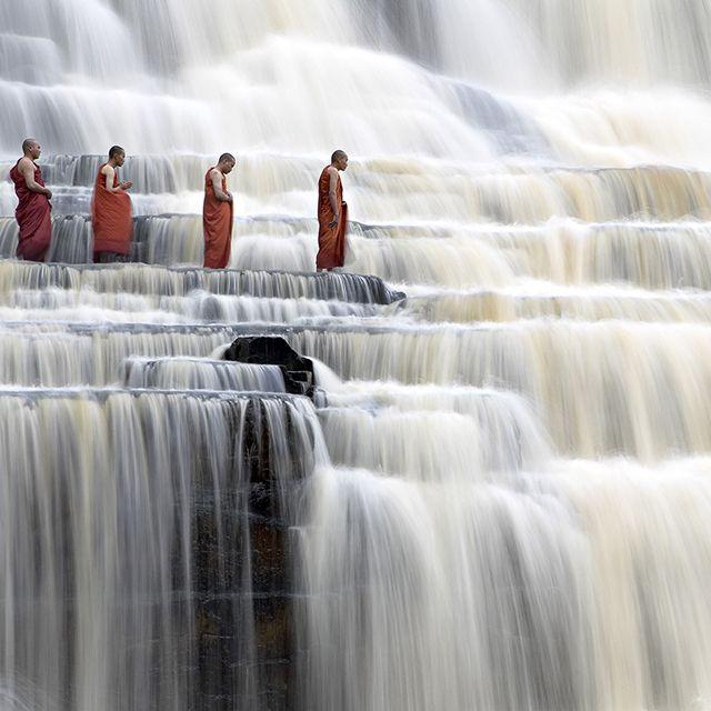Breath taking picture of Pongua Falls, Vietnam