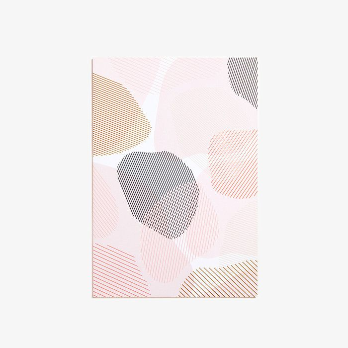 Notebook au inspiration rocheuse, rose, gris, or. 128 pages blanches. 14,6 x 21cm