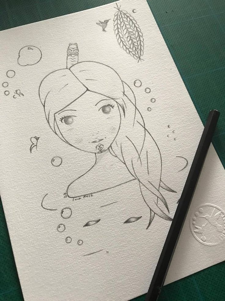 Frost Sketch Project #9 - Ariana & The Kowhai Lantern - Ema Frost