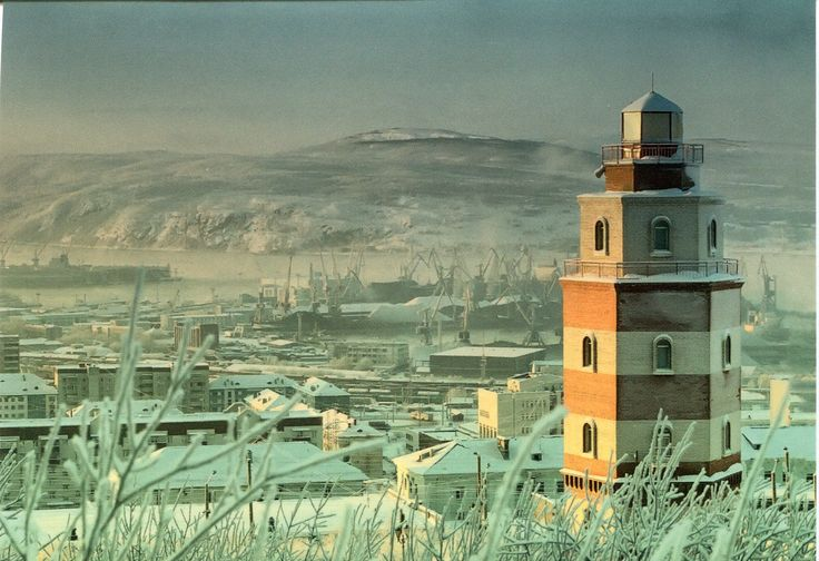 Located high on a hill above the city, it has no navigational value, but it deserves special mention as the only lighthouse in the Murmansk area readily accessible to tourists. Description from rememberingletters.wordpress.com. I searched for this on bing.com/images