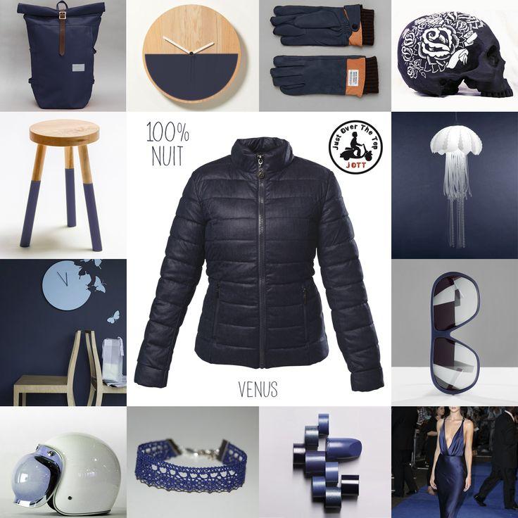 #FASHIONMATCH Vite, une silhouette dynamique chic ! Optez pour la doudoune #JOTT féminine et #urbaine. Découvrez le modèle #VENUS (bleu nuit) http://www.jott.fr