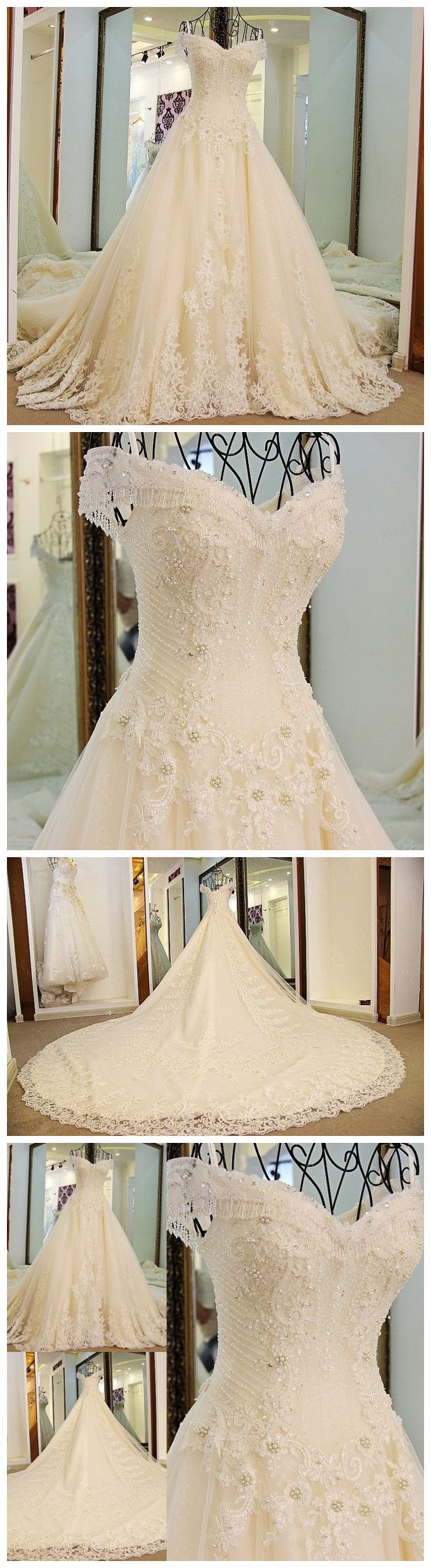 click the picture to purchase.A-line Princess Off-the-Shoulder Wedding Dresses, Gorgeous Appliqued Wedding Dresses. ASD2626 A-line Gorgeous princess wedding dresses, pure fairy tale wedding dresses. wedding dresses for autumn.