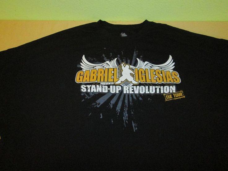 Gabriel Iglesias Fluffy   T Shirt Sz 5XL - Black - THE STAND UP REVOLUTION TOUR #FluffyShop #GraphicTee