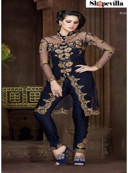 A Modern Look pant Style Navy Blue Suit-4805A