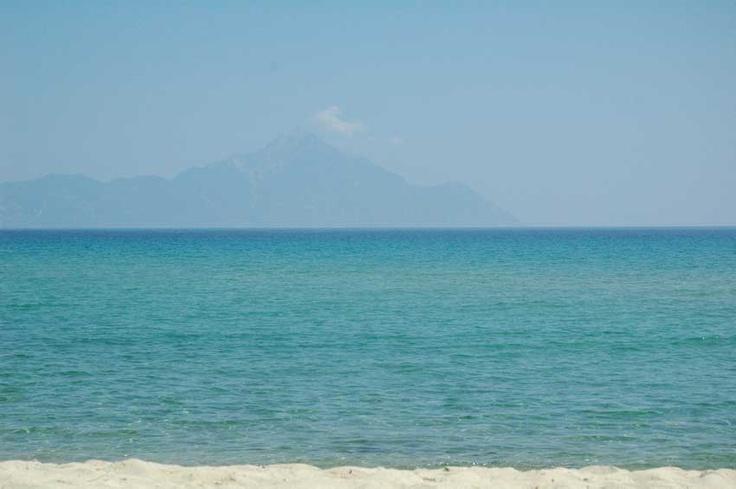 Mount Athos, view from Sarti