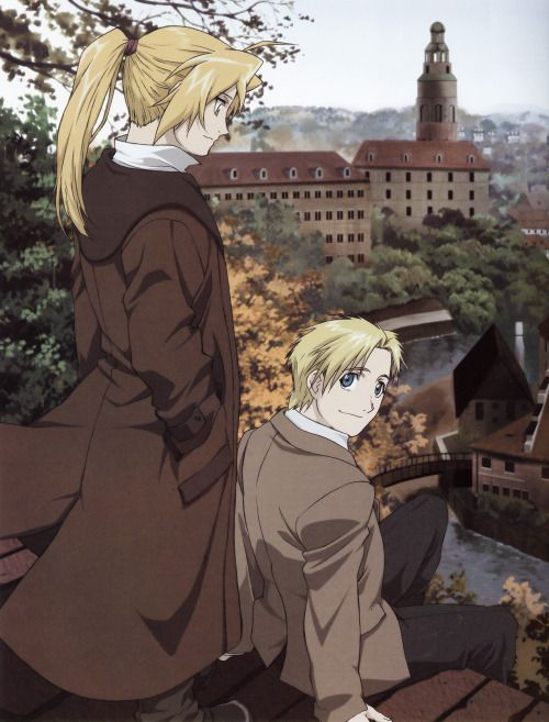 Edward and Alfons (the alternate universe version of Alphonse)